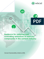 CSI Guidance for Reducing and Controlling Emissions of Mercury Compounds in the Cement Industry