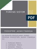 Poreski Sistem