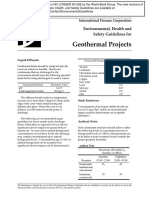 EHS Guidelines for Geothermal Projects