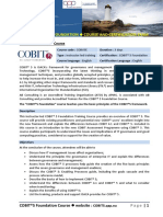 Cobit 5 Foundation Course