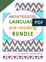 Montessori Pre-Reading Bundle by Carrots Are Orange
