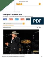 Bob Dylan's Immortal Lines - Livemint