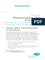 SAT. Fee Waiver Guide for Families in Spanish