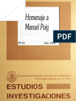 Homenaje a Manuel Puig Jose Amicola