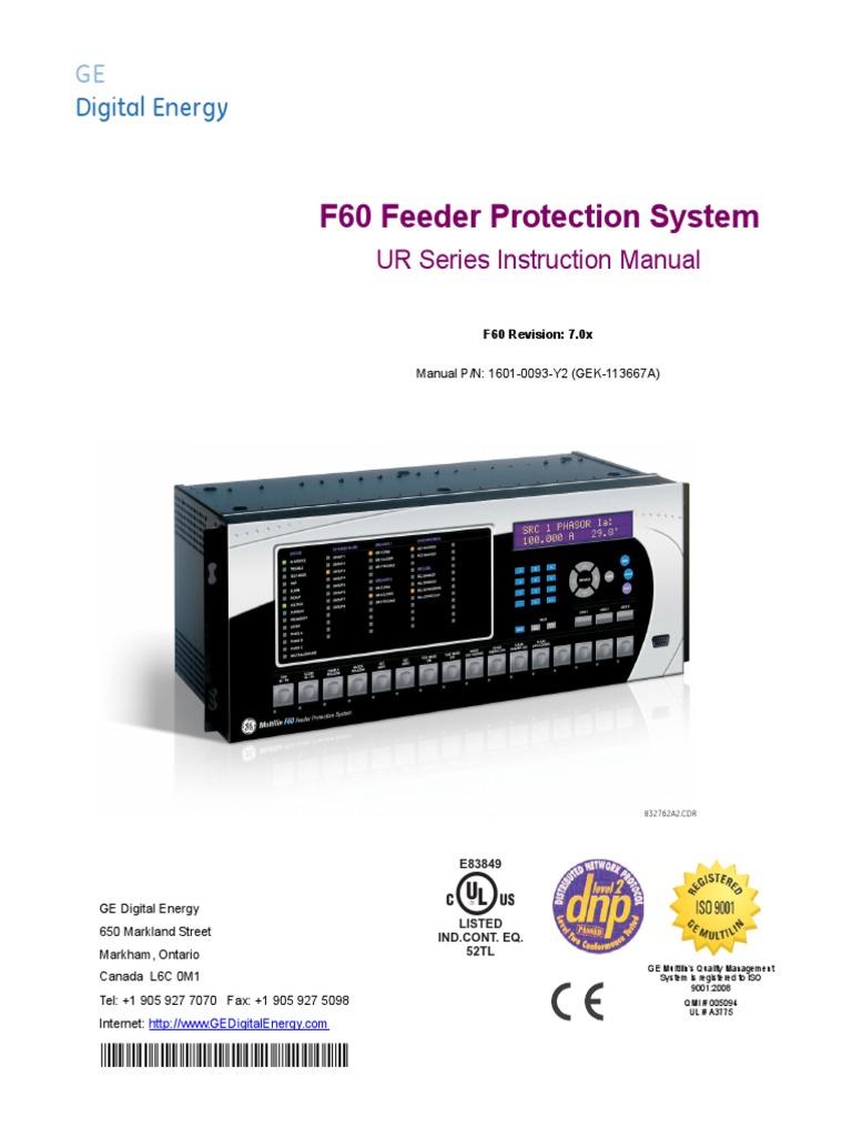 manual ge ur f60 pdf signal electrical engineering object rh scribd com ge multilin l90 relay manual GE Ur Relays