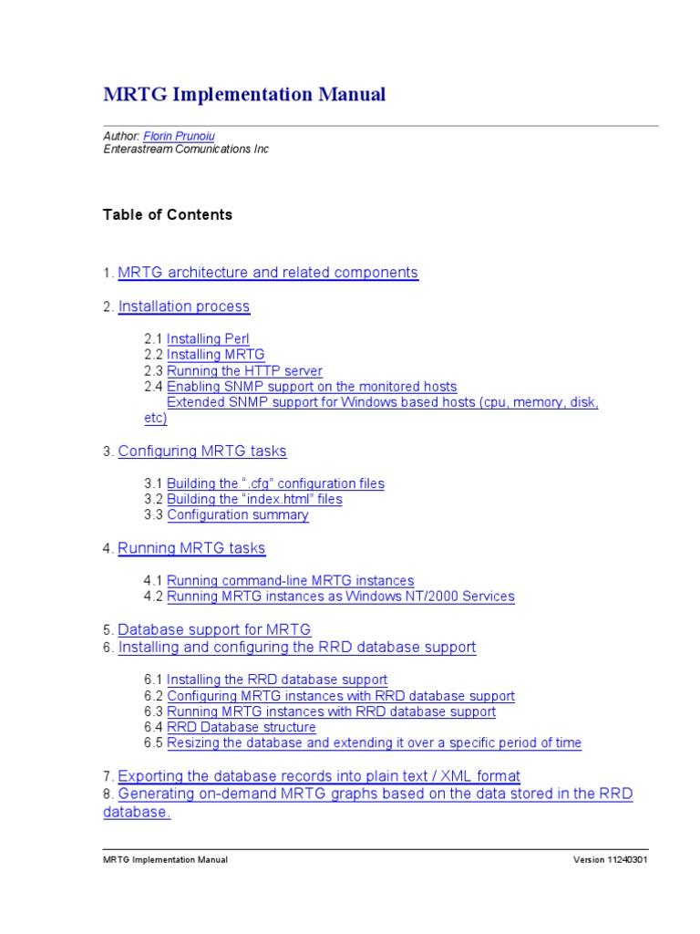 mrtgimplementationmanual  command line interface
