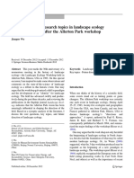 Key Concepts and Research Topics in Landscape Ecology 2012