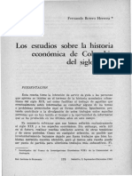 Los Estudios Sobre La Historia Economica De Colombia