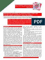 Preventive Methods in Logistics Poka-Yoke and Failure Mode and Effect Analysis (FMEA)