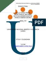 Etica y Ciudadania - Ensayo Final