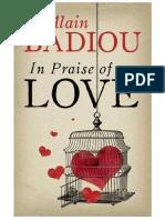 Badiou in Praise of Love