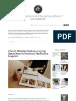 Contoh Makalah Mahasiswa Yang Benar Beserta Pedoman Pembuatan Makalah — Universitas Ciputra Entrepreneurship Online