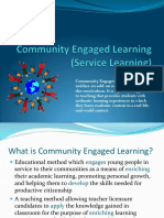 community engaged lerning  service learning