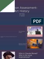 common assessment- art history