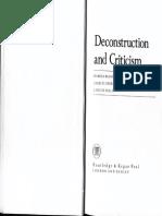 (Geoffrey H. Hartman Et Al.) Deconstruction and Criticism