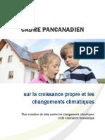 Cadre pancanadien sur la croissance propre et les changements climatiques