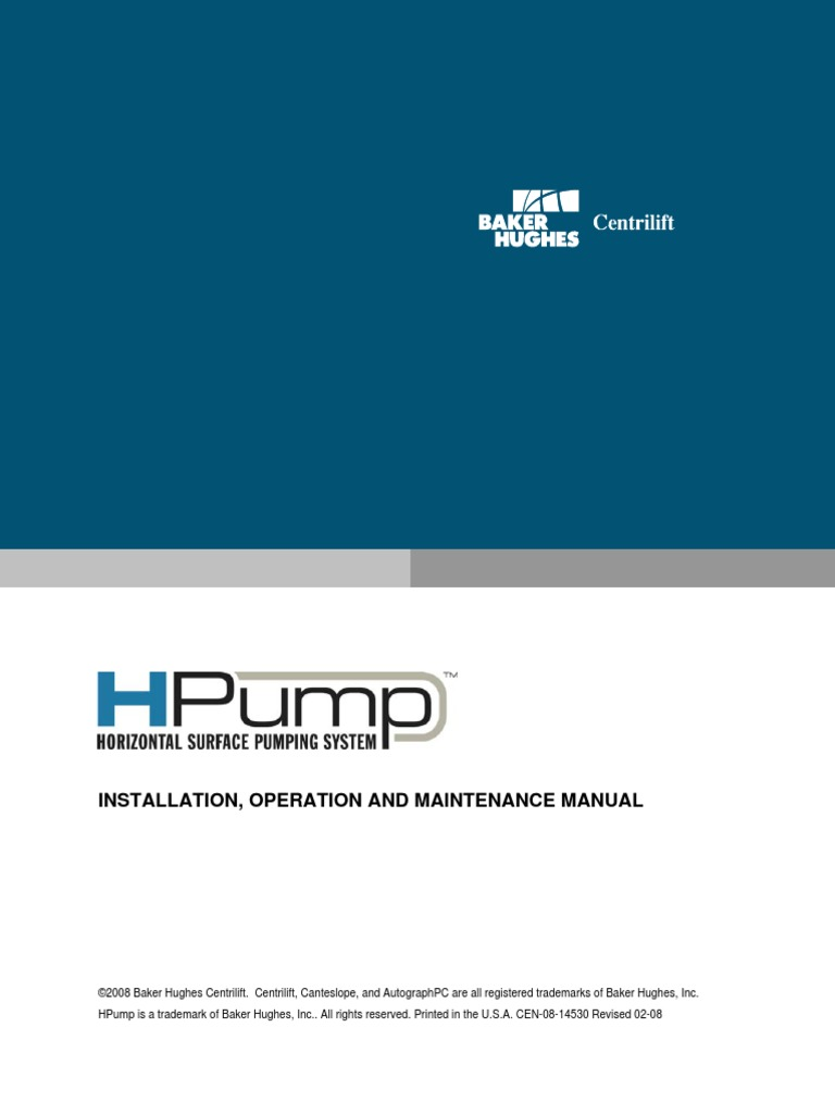 Baker-Hughes-HPump-Operation-and-Maintenance-Manual.pdf   Bearing ...