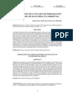 Formulación de Un Fluido de Perforación Base Diesel de Bajo Impacto Ambiental