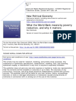 What the World Bank Means by Poverty Reduction and Why It Matters