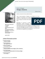 Tiempo e Historia _ Martin Heidegger