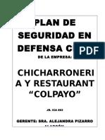 Plan de Contingencia Chicharroneria