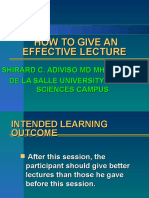 HOW TO GIVE AN EFFECTIVE LECTURE 1.ppt