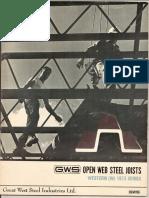 GWS Open Web Joists - 1973