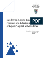 13 Intellectual Capital Disclosure Practices and Effects on the Cost of Equity Capital UK Evidence ICAS