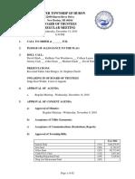 Huron Township Board of Trustees - 14 Dec 2016 - Agenda