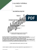 Maths Bac général S obligatoire 2 métro+réunion
