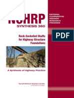 Rock Socket Nchrp Syn 360