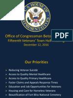 December Veteran Town Hall PowerPoint