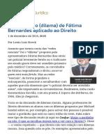 ConJur - O Segredo Do (Dilema) de Fátima Bernardes Aplicado Ao Direito