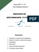Principes Spectro UV