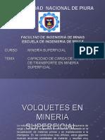 Volquetes en Mineria Superficial. Neyra