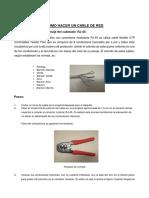 Como Hacer Un Cable de Red Caso 1