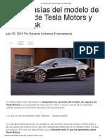 Las Fantasías Del Modelo de Negocio de Tesla Motors