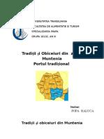 Tradiții Și Obiceiuri Din Muntenia