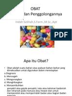Definisi Dan Penggolongan Obat