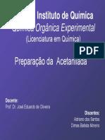 8-Preparação Da Acetanilida LIC 2008