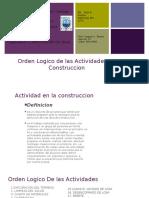orden lógico de la construcción