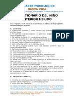 Test Del Niño Interior