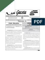 Decreto Ejecutivo Plan Nacional de Alfabetización Obligatoria 02-06-2014