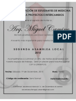 Asamblea Local Invitaciónes - Autoridades