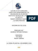 Informe de TES Jonathan Orellana