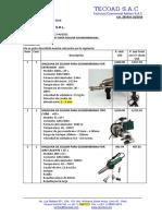 Cotizacion de Maquinas Para Soldar Geomembranas - Mainin s.r.l.