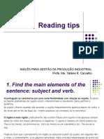 Aula 1 Reading Tips