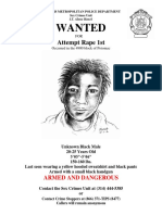 South St. Louis assailant wanted poster