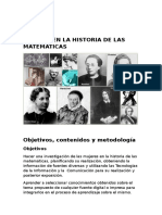 Mujeres en La Historia de Las Matemáticas