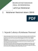 Perkembangan Ketahanan Nasional Di Indonesia